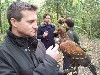 Sascha Beljuli with Jeff & Dan on their recent Hawk Walk, flying three of last years babies!