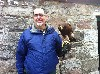 Dave Horan with Geimhreadh from his recent Hawk Walk.