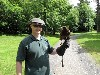 Marco Engler flying Geimhreadh on his recent Hawk Walk with us.