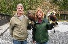 Here is Vickie & Doug Jacobsen just setting off to fly Maya & Fomhar during their recent Hawk Walk with us.