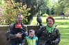 Elisabeth, Matthias, Julian & Oskar with Aztec during their recent Hawk Walk.
