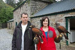 Suzanne House and her husband, just setting off on their Hawk Walk.