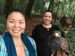 Here is Shayna Fujii & Mestisa flying Samhradh & Milly with us recently.